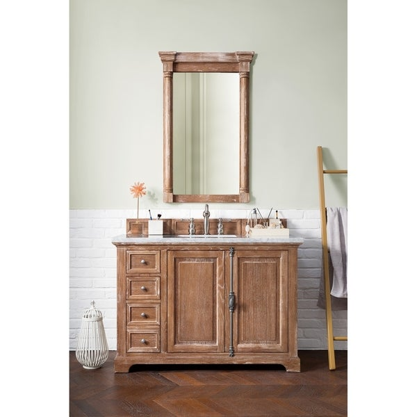 Shop Providence 48 Single Vanity Cabinet Driftwood Free Shipping Today