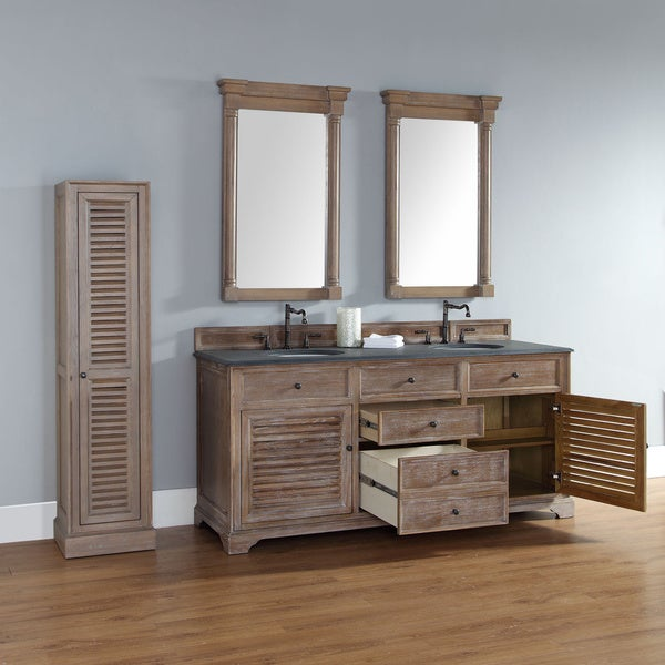 James Martin 72 Inch Savannah Driftwood Double Bath Vanity Cabinet   Free  Shipping Today   Overstock.com   17299020