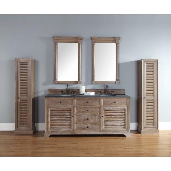 James Martin 72 Inch Savannah Driftwood Double Bath Vanity Cabinet