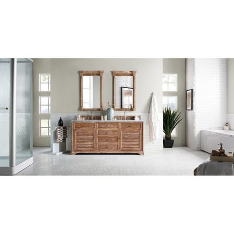 "Savannah 72"" Double Vanity Cabinet, Driftwood"