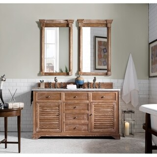 "Savannah 60"" Double Vanity Cabinet, Driftwood"
