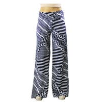 Le Nom Women's Black and White Print Palazzo Pants