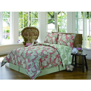 Coral Bay Coral 4-piece Comforter Set