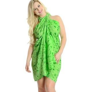 La Leela Soft Gentle Rayon Tie Dye Beach Bikini Pareo Sarong 72X46Inch Green