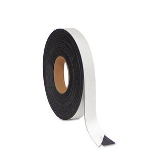 MasterVision Black Magnetic Adhesive Tape Roll