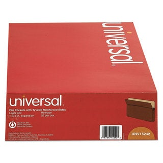 Universal 1 3/4 Inch Redrope/Manila Expansion File Pockets