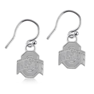 Ohio State Sterling Silver Dangle Earrings