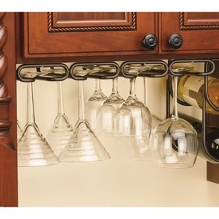 Rev-A-Shelf 3450-11ORB 11-inch Quad Stemware Holder