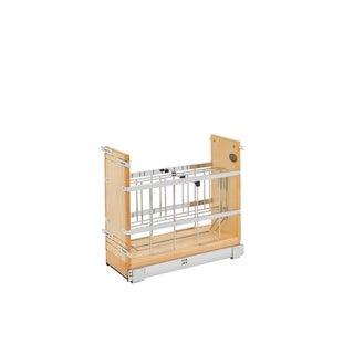 Rev-A-Shelf 447-BCSC-8C 8-inch Tray Divider/ Foil and Wrap Organizer Soft-Close