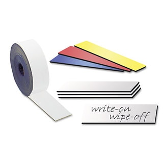 MasterVision White Dry Erase Magnetic Tape Strips