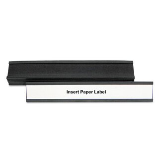 MasterVision Black Magnetic Card Holders (Pack of 3)