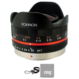 Rokinon 7.5mm f/3.5 Ultra Wide-Angle Fisheye Lens for Micro 4/3 Bundle