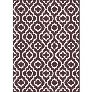 Geometric 1028 Metro Chocolate Rug (7'10 x 10'3)
