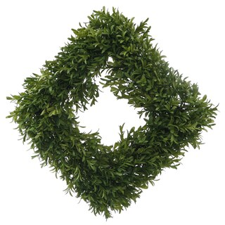 English Boxwood Square Wreath