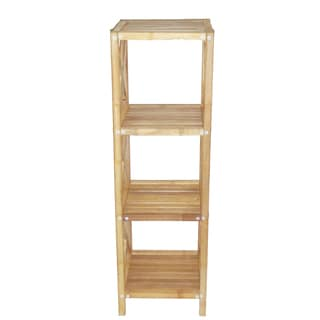 Natural 4-tier Bamboo Shelf (Vietnam)