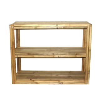 Natural 3-tier Rectangle Shelf/ Console Table (Vietnam)