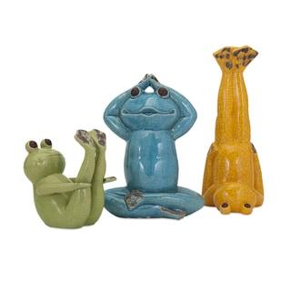 Yoga Frog Statuaries (Set of 3)