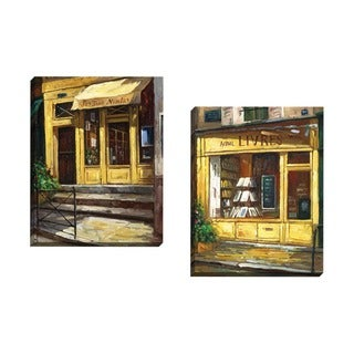 Portfolio Canvas Decor Bretan-Gaetano Collection 'Paris Shop 1' Framed Canvas Wall Art (Set of 2)