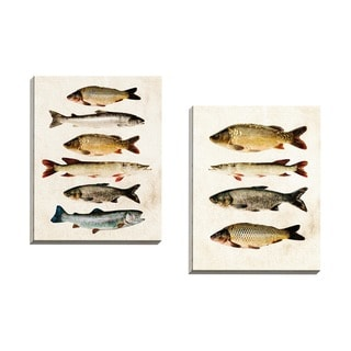 Portfolio Canvas Decor GI ArtLab 'Fish Study A' Framed Canvas Wall Art (Set of 2)