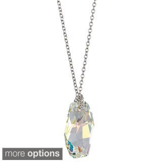 Decadence Sterling Silver Austrian Crystal Meteor Necklace