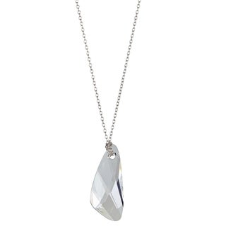 Decadence Sterling Silver Austrian Crystal Wing Necklace
