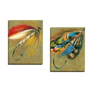 Portfolio Canvas Decor Elliot 'Captive Colors I' Framed Canvas Wall Art (Set of 2)