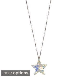 Decadence Sterling Silver Austrian Crystal Star Necklace