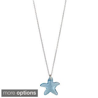 Decadence Sterling Silver Austrian Crystal Starfish Necklace