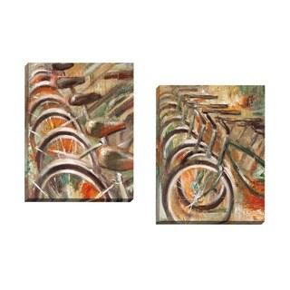 Portfolio Canvas Decor Michael Saunders 'Bicyclette I' Framed Canvas Wall Art (Set of 2)