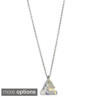 Decadence Sterling Silver Austrian Xilion Triangle Necklace