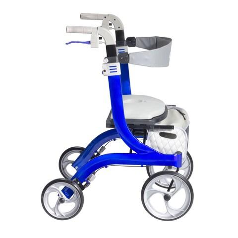 "Drive Medical Nitro DLX Euro Style Walker Rollator - 28-35""h"