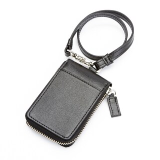 Royce RFID-blocking Italian Saffiano Leather Key Case Wallet