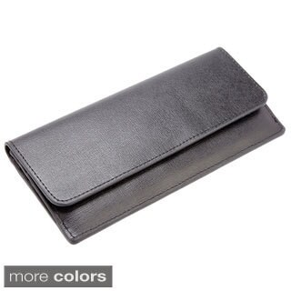 Royce RFID Blocking Saffiano Leather Clutch/ Wallet