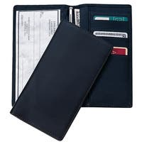 Royce RFID Blocking Checkbook Register Cover and Secretary Genuine Leather Wallet