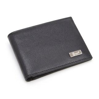 Royce Men's RFID Blocking Saffiano Leather Hipster Bi-fold Wallet