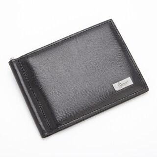 Royce RFID Blocking Saffiano Leather Money Clip/ Wallet