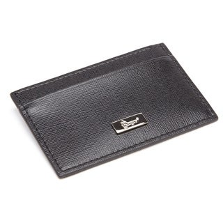 Royce RFID Blocking Saffiano Leather Slim Card Case/ Wallet