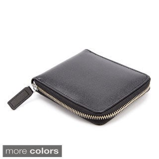 Royce RFID Blocking Saffiano Leather Zip Around Wallet (2 options available)