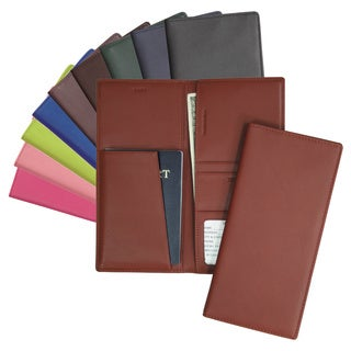 Royce Full-grain Genuine Nappa Cowhide Leather Passport and Ticket Holder