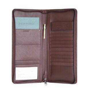 Royce Executive Zippered Travel Document Passport Genuine Leather Case