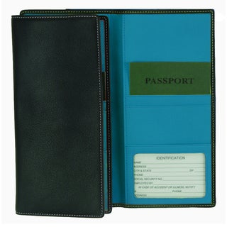 Royce Full Grain Nappa Cowhide Genuine Leather Passport Ticket Holder