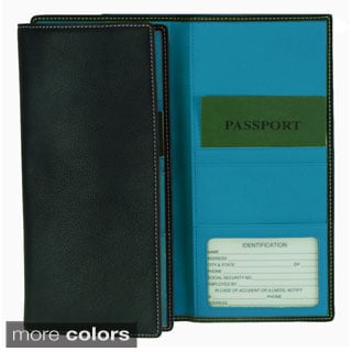 Royce Full Grain Nappa Cowhide Genuine Leather Passport Ticket Holder