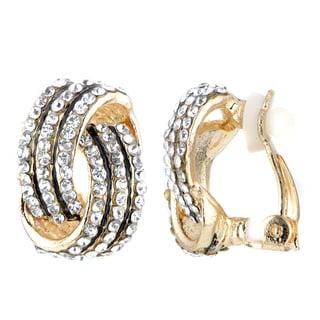 Goldtone Brass Love Knot Clip-on Earrings