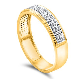 10k Yellow Gold Men's 1/4ct TDW Diamond Wedding Band
