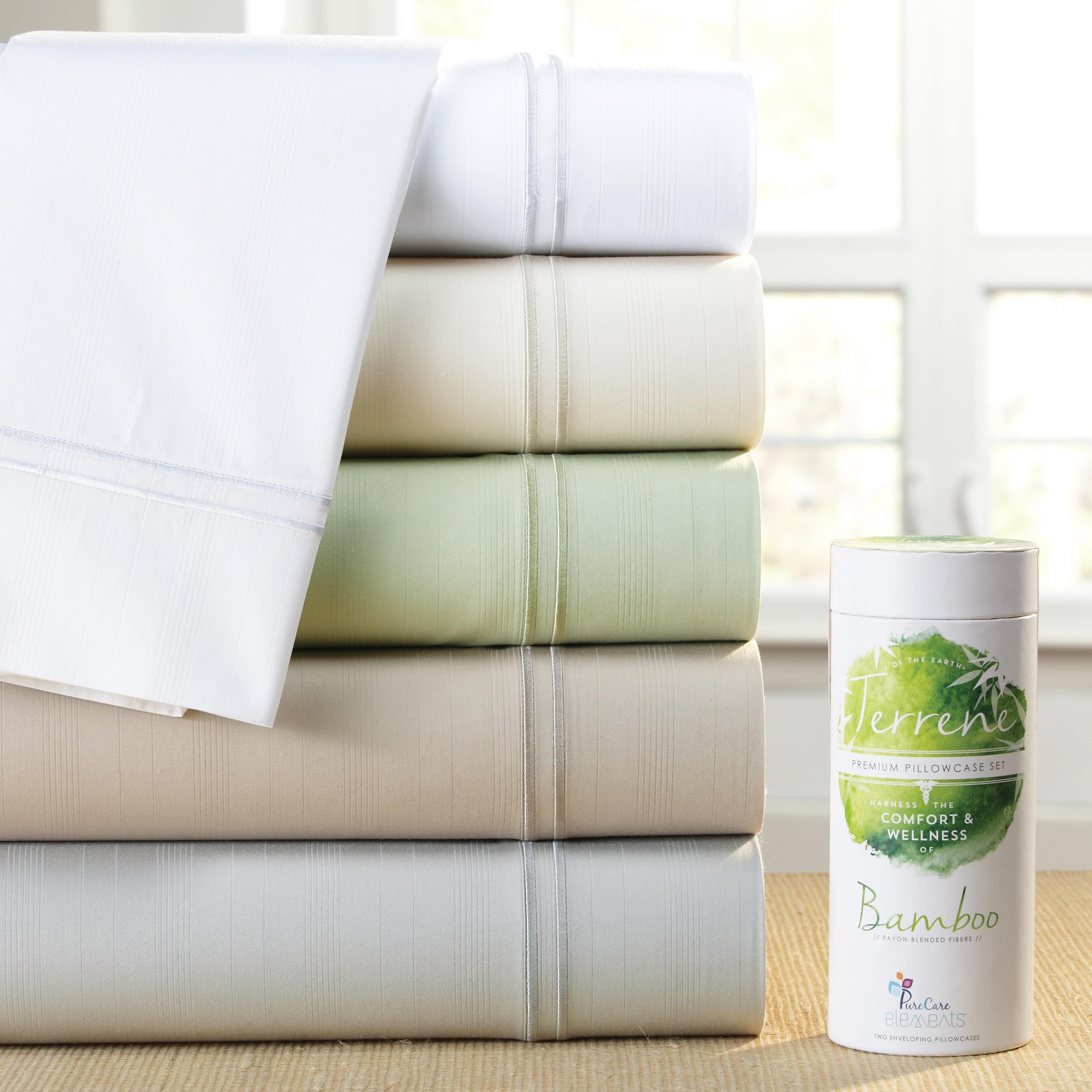 PureCare PCSB-Q-IV Bamboo Terrene Premium 4 Piece Sheet Set Ivory Queen