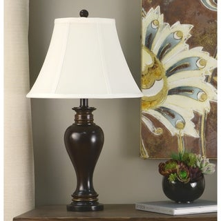 Link to Copper Grove Hersey 25-inch Walnut Ridge Table Lamp Similar Items in Table Lamps