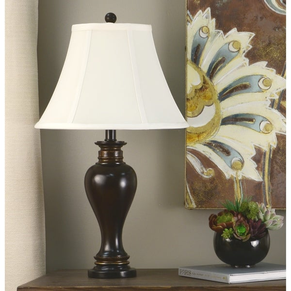 Laurel Creek Linden 25-inch Walnut Ridge Table Lamp