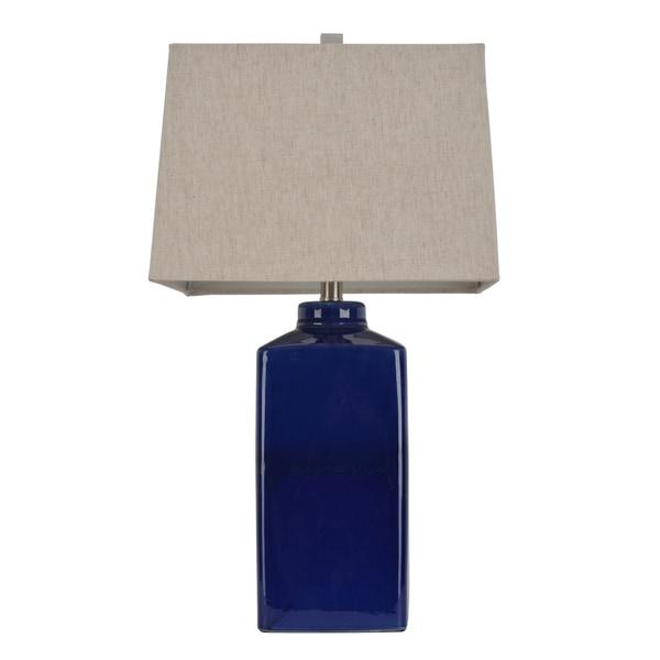 Havenside Home Yorkville 26.5-inch Square Ceramic Table Lamp