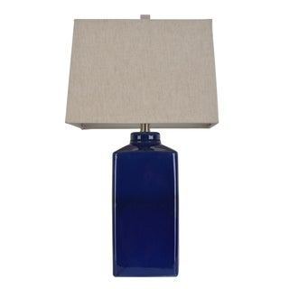 26.5-inch Square Ceramic Table Lamp