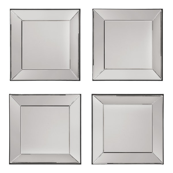 shop decorative square wall mirrors set of 4 silver on sale free shipping today. Black Bedroom Furniture Sets. Home Design Ideas